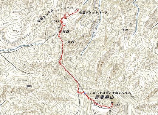190225 吾妻耶山軌跡