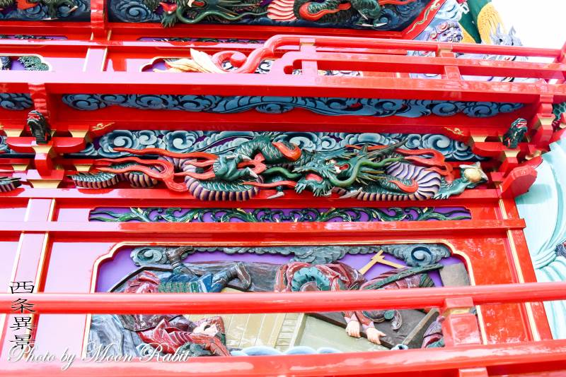 朝日町だんじり(屋台) 斗栱間・天井板