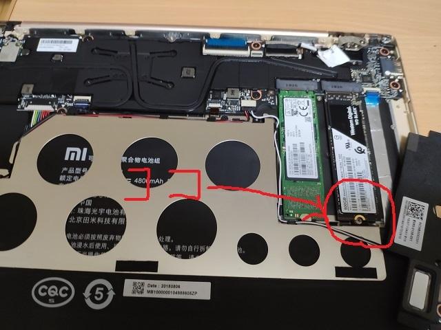 Mi Notebook Air 12.5 トラブル原因箇所