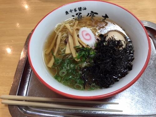 らー麺専科 海空土 (岩のりらー麺、トッピングは煮卵、らー麺、餃子)