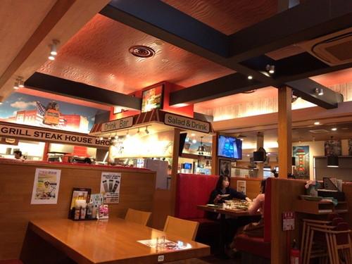 ブロンコビリー 武石インター店(炭焼きやわらかステーキランチとドリンク、ジェラードバー)