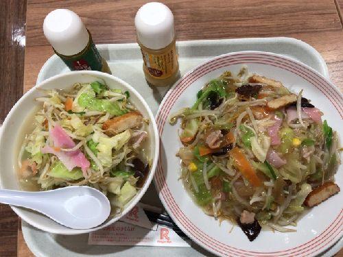 リーガーハットアリオ蘇我店(野菜たっぷりスープ、長崎皿うどん)今年最後の12月ネイル
