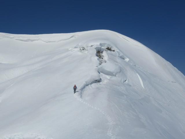 3月4日 小白山北峰手前