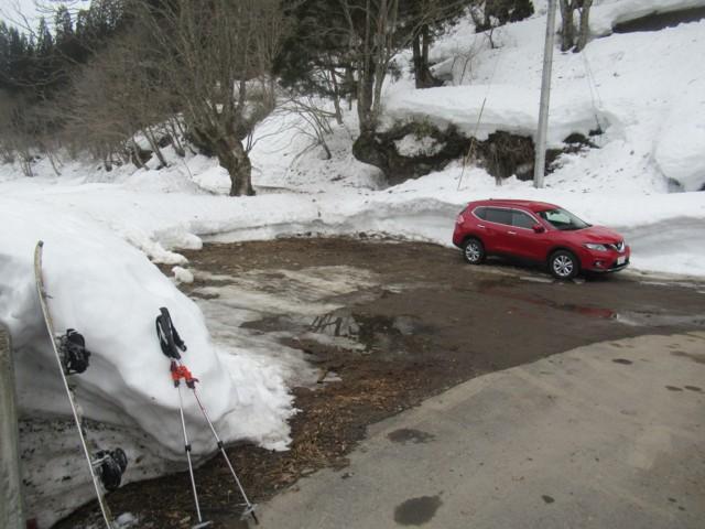 3月4日 橋横の駐車スペース