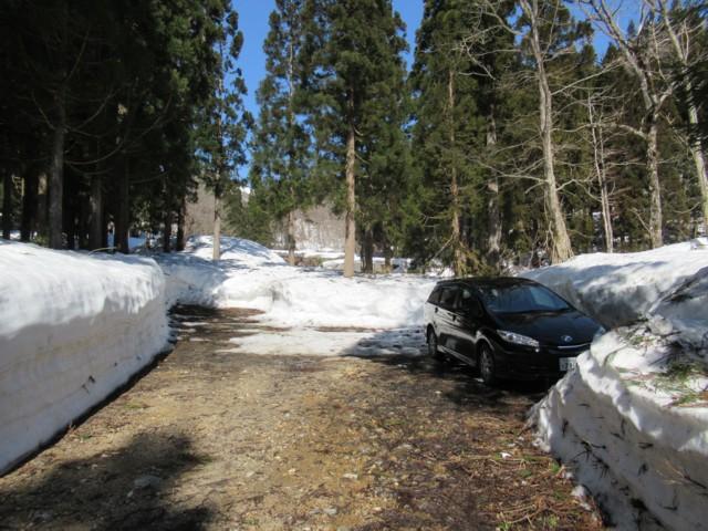 3月17日 駐車スペースできてた