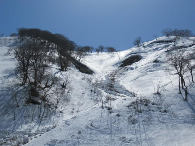 3月17日 急斜下は要注意