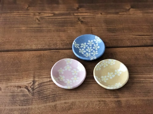 s-花模様の豆皿